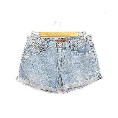 【中古】ジョーズ JOE'S パンツ ショート デニム ダメージ加工 26 水色 /AAM26 レディース 【ベクトル 古着】