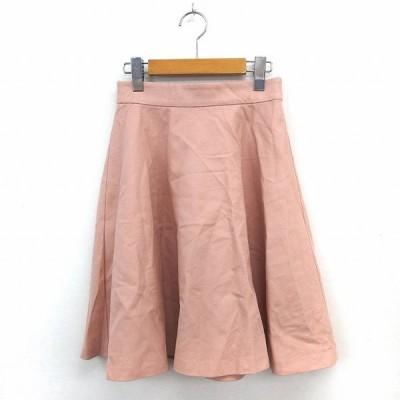【中古】レッセパッセ LAISSE PASSE スカート フレア 膝丈 バックジップ シンプル 38 ピンク /ST3 レディース 【ベクトル 古着】