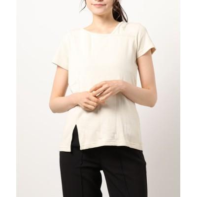L.H.P WOMEN / AVIREX/アヴィレックス/アシンメトリーネックフロントサイドスリットプルオーバー / ASYMMETRY SLIT PULL OVER WOMEN トップス > Tシャツ/カットソー