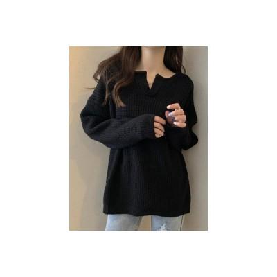 【送料無料】セーターの女性 秋冬 年 バースト スタイル 西洋風 着やせ オーバーサイズ 風 | 364331_A64420-4443220