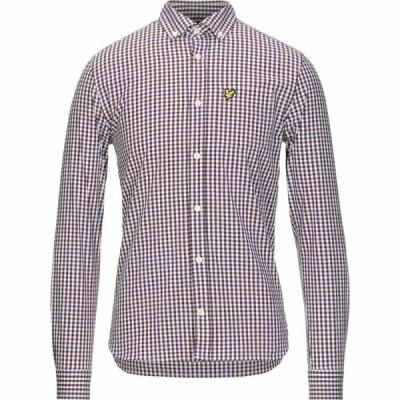ライル アンド スコット LYLE & SCOTT メンズ シャツ トップス checked shirt Maroon