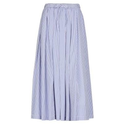 アスペジ ASPESI ロングスカート ブルー 42 コットン 100% ロングスカート