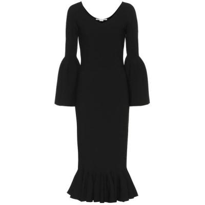 ステラ マッカートニー Stella McCartney レディース ワンピース ミドル丈 ワンピース・ドレス Ribbed-knit midi dress Black