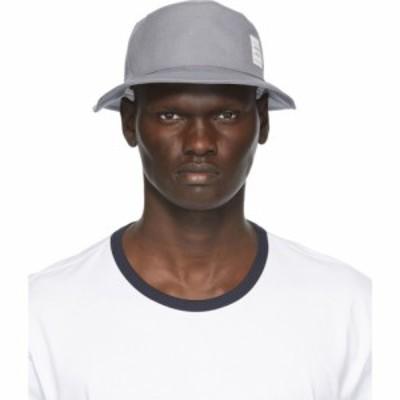 トム ブラウン Thom Browne メンズ ハット バケットハット 帽子 Grey Canvas Classic Bucket Hat Medium grey