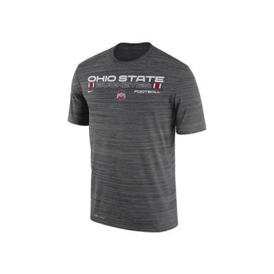 ナイキ ユニフォーム トップス メンズ Men's Ohio State Buckeyes Legend Velocity T-Shirt Anthracite