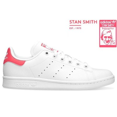 adidas Originals STAN SMITH J EE7573 RUNNING WHITE/REAL PINK アディダス オリジナルス スタンスミス ホワイト リアル ピンク レディース スニーカー 定番