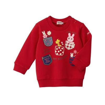 裏毛パイル ポケットプリントトレーナー (トレーナー・スウェット)Kids' Sweatshirts