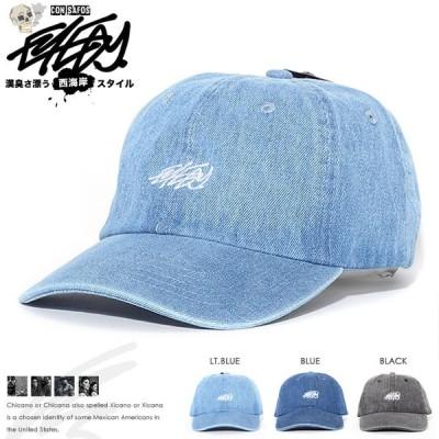 EYEDY アイディー ローキャップ 帽子 デニム アジャスターバック スクリプトロゴ刺繍 (EYE-CAP068) セール
