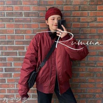 MA-1 ジャケット 中綿 ブルゾン ミリタリー レディース ショート丈 ミリタリージャケット アウター 防寒