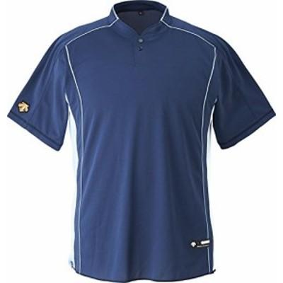 DESCENTE(デサント) 野球 立衿2ボタンベースボールシャツ ネイビー Oサイズ DB109B