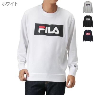 FILA フィラ 裏毛ボックスロゴトレーナー FH7447 メンズ