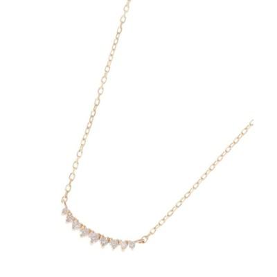 【ココシュニック】 ダイヤモンド グラデーションアーチ ネックレス レディース イエロー ゴールド 40 COCOSHNIK