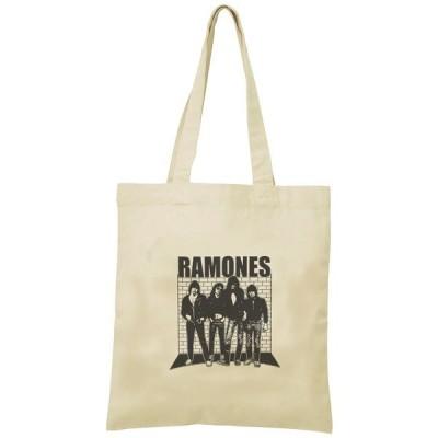 RAMONES トートバッグ キャンバス 12oz 綿100% ナチュラル色 音楽 バンド シネマ 人物 B4サイズ