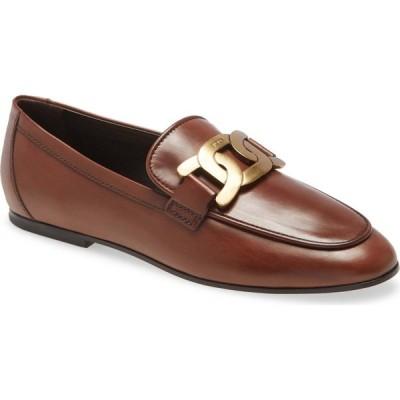 トッズ TOD'S レディース ローファー・オックスフォード シューズ・靴 Chain Buckle Loafer Brown