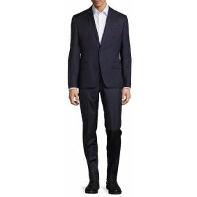 ピエールバルマン Men Clothing Pinstripe Wool Suit