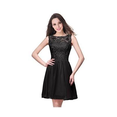 ドレス ワンピース パーティー ショット お呼ばれ 結婚式 二次会 ブライズメイド ブラック ファッション 上品