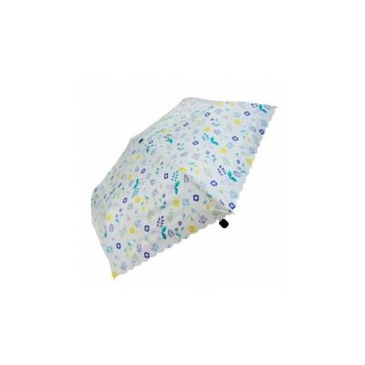 雨晴兼用 折りたたみ傘 55cm mini ボタニカル UM-2061 ホワイト 4943526125276