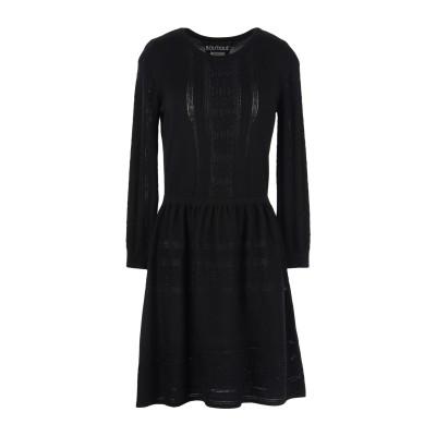 BOUTIQUE MOSCHINO ミニワンピース&ドレス ブラック 42 バージンウール 100% ミニワンピース&ドレス