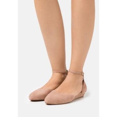 アンナフィールド レディース パンプス シューズ LEATHER - Ankle strap ballet pumps - nude nude