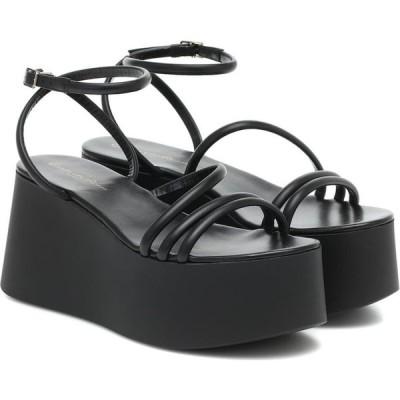 ジャンヴィト ロッシ Gianvito Rossi レディース サンダル・ミュール シューズ・靴 Bekah leather platform sandals Black