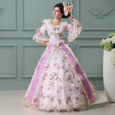 華麗なお姫様 ドレス コスプレ衣装 王族 長裾 貴族 司会 パーティードレス ウェディングドレスda189f0f0g2