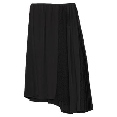 ヌメロ ヴェントゥーノ N°21 7分丈スカート ブラック 42 レーヨン 97% / ポリウレタン 3% 7分丈スカート