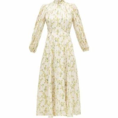ビューラ Beulah レディース ワンピース ワンピース・ドレス Sonia floral-print satin-stripe chiffon dress White