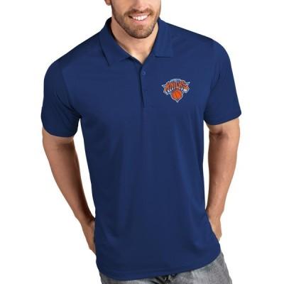 """メンズ ポロシャツ """"New York Knicks"""" Antigua Tribute Polo - Royal"""