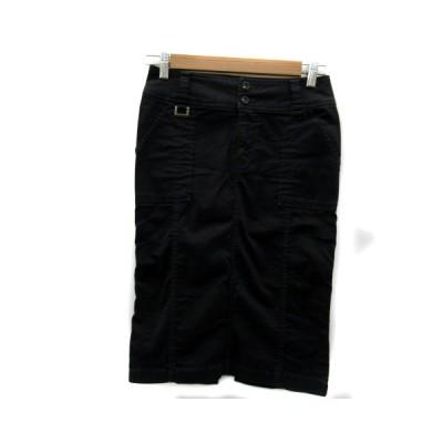【中古】ボッシュ BOSCH スカート タイト ミモレ丈 S ブラック 黒 /YK3 レディース 【ベクトル 古着】