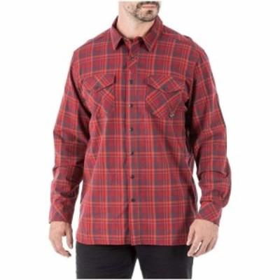 5.11タクティカル 5.11 メンズ シャツ トップス Peak LS Shirt Syrah Plaid