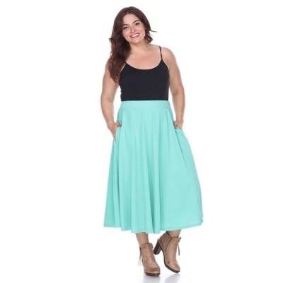 ホワイトマーク スカート ボトムス レディース Plus Tasmin Flare Midi Skirts Mint