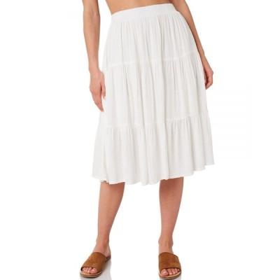 リズム Rhythm レディース ひざ丈スカート スカート Bianca Skirt White