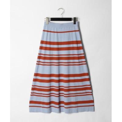 GRACE CONTINENTAL / ボーダーフレアニットスカート WOMEN スカート > スカート