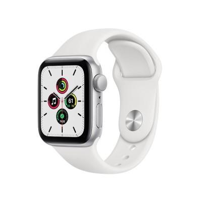 Apple Watch SE GPSモデル 40mm シルバーアルミニウムケースとホワイトスポーツバンド レギュラー MYDM2J/A