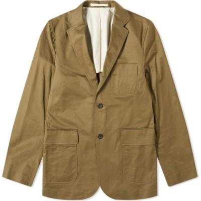 ビームス プラス Beams Plus メンズ ジャケット アウター 80/3 Twill Cotton 3B Jacket Olive