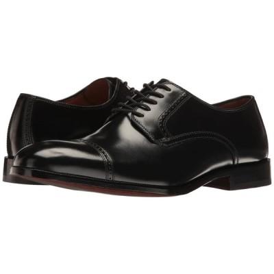 ジョンストン&マーフィー Johnston & Murphy メンズ 革靴・ビジネスシューズ シューズ・靴 Bradford Dress Cap Toe Oxford Black Brush-Off