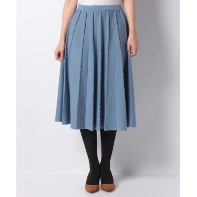 LAPINE BLANCHE/ラピーヌ ブランシュ 14G ミラノリブスカート ブルー 40