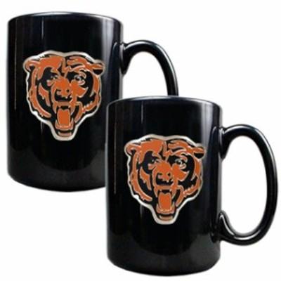 Great American Products ゲット アメリカン プロダクツ スポーツ用品  Chicago Bears Black 15oz. Coffee Mug Set