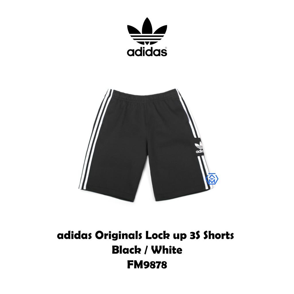 ADIDAS Originals 3-Stripes FM9878 三葉草 電繡 棉褲 運動休閒短褲 三線 廠商直送