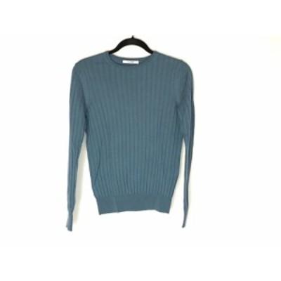 スローン SLOANE 長袖セーター サイズ2 M レディース 美品 - ブルーグレー クルーネック【中古】20201223