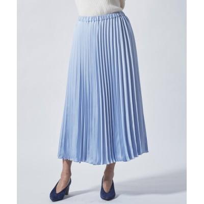 【ビアッジョブルー】 アコーディオンプリーツスカート レディース ブルー S Viaggio Blu