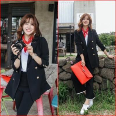 秋服 レディース テーラードジャケット ブレザー オフィスカジュアル テーラードジャケット 韓国 ファッション レディース ジャケット ダ