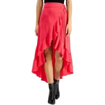 バースリー Bar III レディース スカート Ruffled Wrap Skirt Flamenco Pink