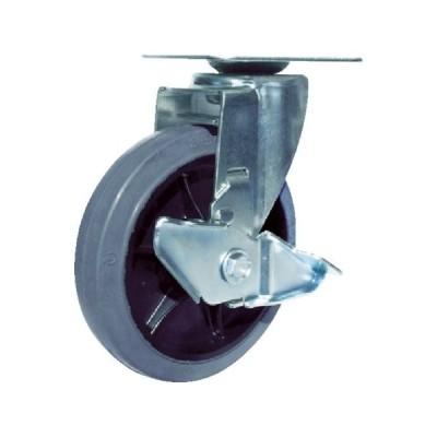 産業用キャスターS付自在車 150径ゴム車輪 ユーエイ RJ2F150NWRSG-8076