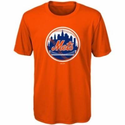 Outerstuff アウタースタッフ スポーツ用品  New York Mets Youth Orange Primary Logo T-Shirt