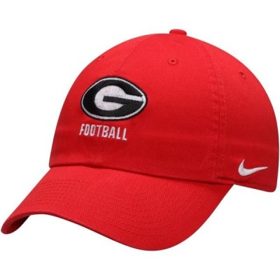 ユニセックス スポーツリーグ アメリカ大学スポーツ Georgia Bulldogs Nike Football Heritage 86 Logo Statement Adjustable Hat - Re