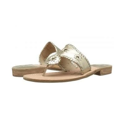 Jack Rogers ジャックロジャース レディース 女性用 シューズ 靴 サンダル Jacks Flat Sandal - Platinum