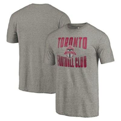 ファナティクス ブランデッド メンズ Tシャツ トップス Toronto FC Fanatics Branded Antique Stack Tri-Blend T-Shirt