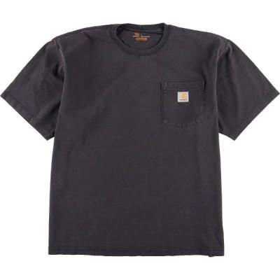 カーハート Carhartt 半袖 ワンポイントロゴポケットTシャツ メンズL /eaa160151