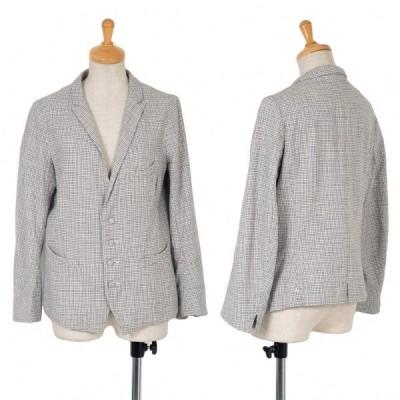 45rpm コットンチェックジャケット 白黒2 【レディース】